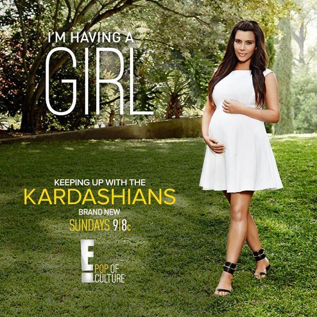 """Kim Kardashian: """"Będę miała DZIEWCZYNKĘ!"""""""