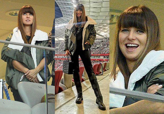 Ciężarna Anna Lewandowska w casualowej stylizacji na meczu Bayernu Monachium. Ładnie wyglądała? (ZDJĘCIA)