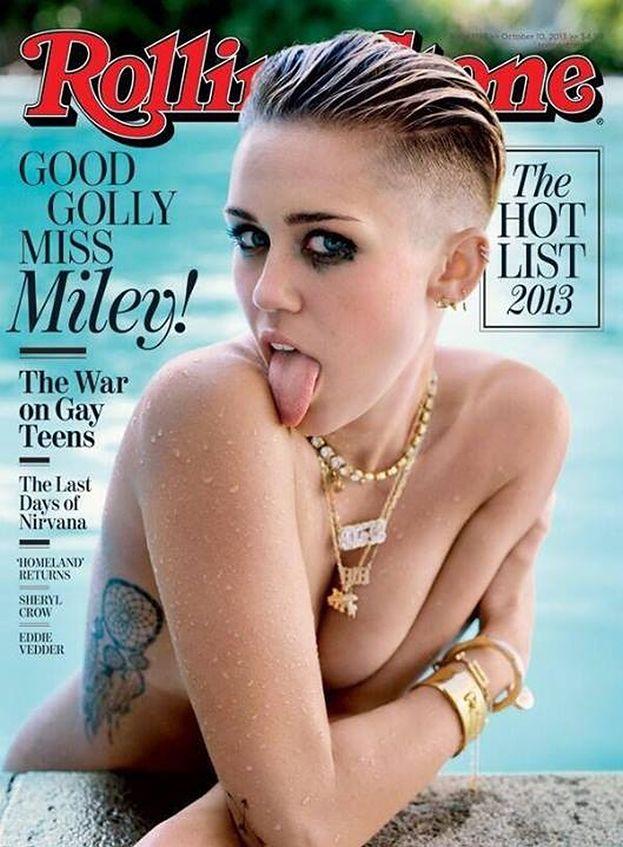 """PÓŁNAGA Miley na okładce """"Rolling Stone""""!"""