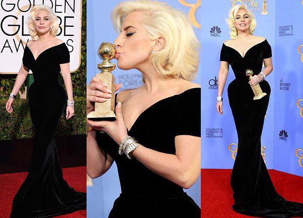 Lady Gaga jak Marylin Monroe na Złotych Globach (ZDJĘCIA)