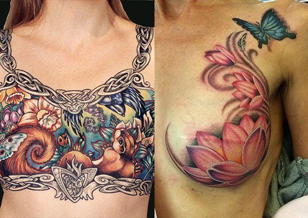 Te tatuaże pokrywają... blizny po usuniętych piersiach! (ZDJĘCIA)