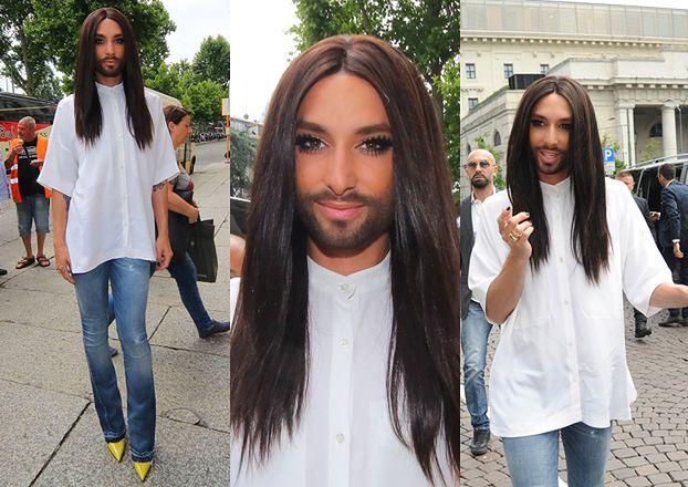 Conchita Wurst w (prawie) męskim stroju! (ZDJĘCIA)