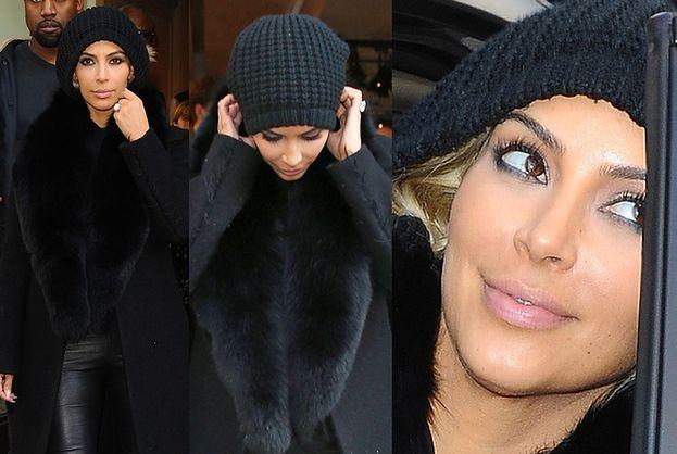 Kim Kardashian JEST BLONDYNKĄ! Nie chce pokazać włosów! (ZDJĘCIA)