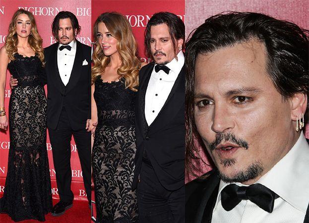 Johnny Depp z młodą żoną na czerwonym dywanie (ZDJĘCIA)