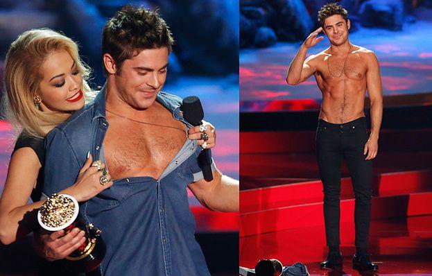 Efron bez koszulki na rozdaniu nagród! (ZDJĘCIA)