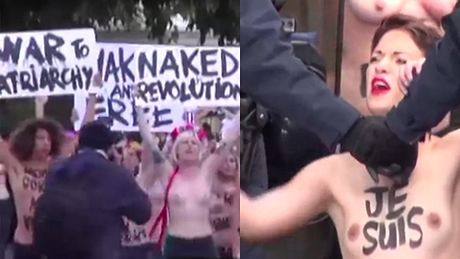 25 dziewczyn z Femenu W RĘKACH POLICJI! Protestowały nago w Paryżu!