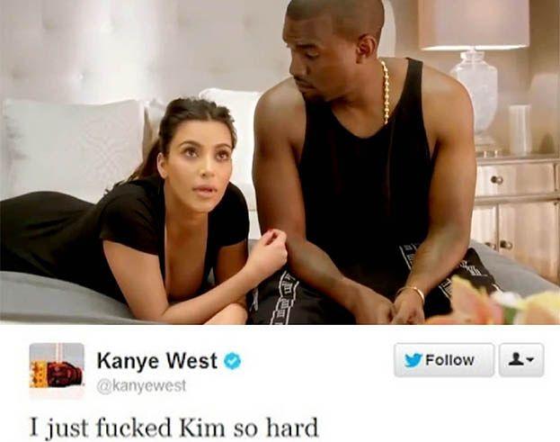 """Kanye: """"Właśnie ostro zerżnąłem Kim!"""""""