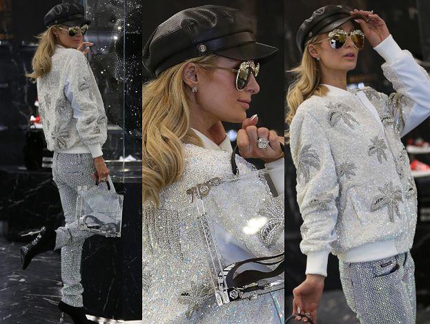 """Paris Hilton opływa kiczem w butiku """"przyjaciela"""" Justyny Gradek"""