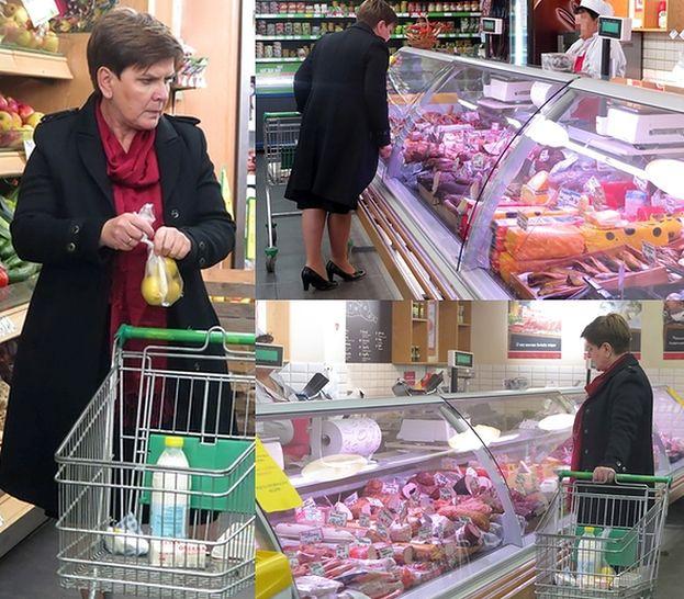 Beata Szydło kupuje mięso w markecie (ZDJĘCIA)