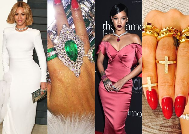 Rihanna i Beyonce chwalą się biżuterią (ZDJĘCIA)