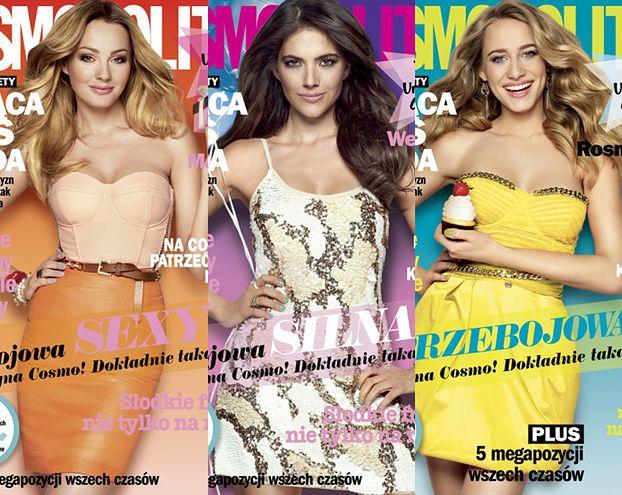 "Socha, Rosati i Rosnowska na okładkach ""Cosmopolitan""! (FOTO)"