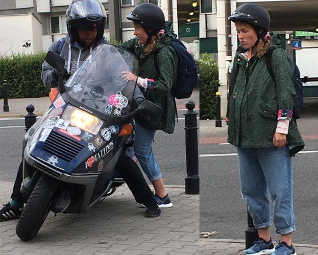 Ciężarna Olga Frycz chwyta dzień na skuterze (TYLKO U NAS)