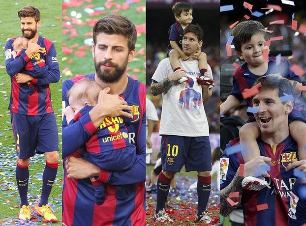 Messi i Pique z synami na meczu! Podobni? (ZDJĘCIA)