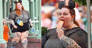 Przebrana za Myszkę Miki Tess Holliday delektuje się lodami w Disneylandzie (ZDJĘCIA)