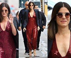 Elegancka Sandra Bullock promuje nowy film