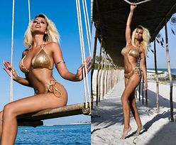 Odmieniona Jola Rutowicz obnaża swoje wdzięki na plaży w Miami (FOTO)