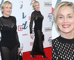 60-letnia Sharon Stone kusi w prześwitującej kreacji na after party po gali Grammy
