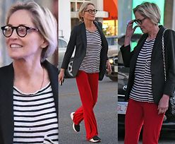 Naturalna Sharon Stone buszuje po sklepach w Los Angeles