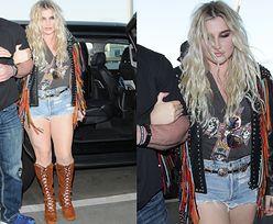 """""""Zmęczona"""" Kesha w drodze na lotnisko"""