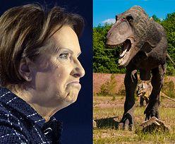 """Ewa Kopacz kreuje nową historię dziejów Ziemi: """"Ludzie rzucali kamieniami w dinozaury"""""""