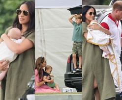 Meghan Markle zabrała Archiego na mecz polo! Towarzystwa dotrzymywała jej Kate Middleton wraz z dziećmi