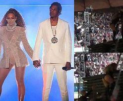 """Kolejna sprzeczka Beyonce i Jaya-Z? """"Nie podał jej ręki, kiedy schodziła z drabiny"""""""