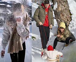 Ferie Lewandowskich w Austrii: pocałunki, sanki i dużo śniegu (FOTO)