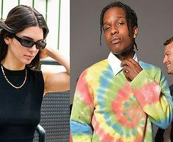 Wypuszczony z aresztu ASAP Rocky flirtuje z Kendall Jenner na nabożeństwie Kanyego Westa (WIDEO)