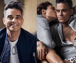Owłosiona klata Robbiego Williamsa reklamuje bluzy