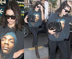 Niezadowolona Kendall Jenner w koszulce ze Snoop Doggiem