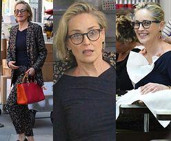 Wyluzowana Sharon Stone rozpieszcza się w salonie piękności