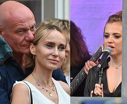 Zakochany Piotr Zelt wącha partnerkę na koncercie Sashy Strunin (FOTO)
