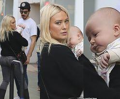 Odziana w Gucci Hilary Duff biega po sklepach z malutką córeczką