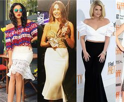 Stylowa spódnica syrena w stylizacjach celebrytek