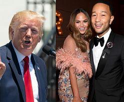"""Trump atakuje Johna Legenda i Chrissy Teigen na Twitterze: """"Nudny artysta i jego żona z niewyparzoną gębą"""""""