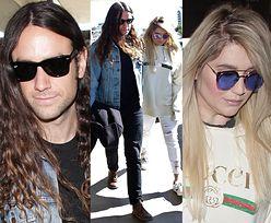 Wyluzowana Kesha z chłopakiem na lotnisku