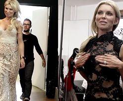 """""""Żona Hollwood"""" przymierza sukienkę Beyonce: """"Nie podciągajmy wyżej! Musi być widać pępek!"""""""