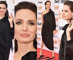 Elegancka Angelina Jolie w czerni na czerwonym dywanie. Wciąż jest za chuda? (ZDJĘCIA)
