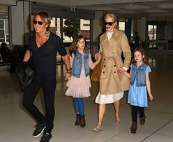 Nicole Kidman z córeczkami i mężem na lotnisku w Sydney! (ZDJĘCIA)