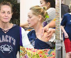 Blada, szczupła i posiniaczona Sharon Stone odwiedza gabinet urody (ZDJĘCIA)