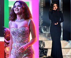 Ściśnięty biust Seleny Gomez występuje na gali American Music Awards (ZDJECIA)