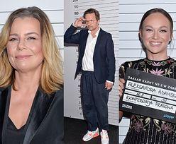 """Aktorzy pozują jak do POLICYJNEJ KARTOTEKI na konferencji serialu """"Skazana"""": Kulesza, Adamska, Topa... (ZDJĘCIA)"""