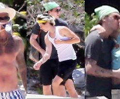 David Beckham pręży UMIĘŚNIONĄ KLATĘ na karaibskiej plaży w towarzystwie wszystkich synów (ZDJĘCIA)