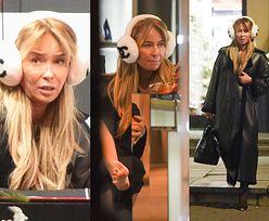 Zarobiona Joanna Przetakiewicz wierzga nagą stópką w luksusowym butiku, poszukując szpilek za 5 tysięcy złotych (ZDJĘCIA)