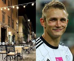 Z baru przy drodze do Rzymu: Jakub Rzeźniczak już poleciał na romantyczne wakacje z nową dziewczyną! (FOTO)