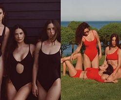 58-letnia Demi Moore pozuje z córkami w kampanii kostiumów kąpielowych. Wyglądają jak siostry? (ZDJĘCIA)