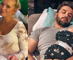 """Dowcipna Barbara Kurdej-Szatan pokazuje śpiącego męża i składa życzenia chłopakom: """"Abyście zawsze byli NAJEDZENI"""" (FOTO)"""