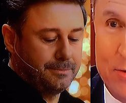 """KAMIENNA TWARZ Andrzeja Piasecznego """"podsumowuje"""" Jacka Kurskiego w finale """"The Voice Senior"""" (ZDJĘCIA)"""