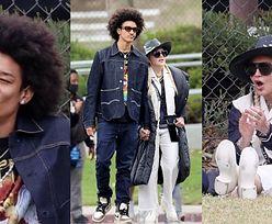 Ubrana na cebulkę Madonna i jej młodszy o 35 lat ukochany dopingują adoptowanego syna na meczu (ZDJĘCIA)