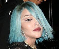 Młodzieżowa Madonna przybywa do klubu z OBNAŻONYM BIUSTEM (ZDJĘCIA)